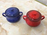 Set of 2 Le Creuset Bean pots / Soup bowls