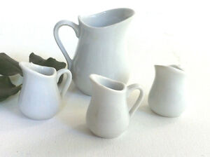Set of 4 White Porcelain Ceramic Mini Jugs Traditional Style Peterborough Peterborough Area image 3