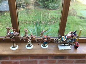 Christmas ornaments (Santa Sleigh)