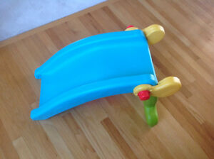 Who doesn't want a slide in house?2in1 Fisher Price Slide/Rocker Strathcona County Edmonton Area image 3