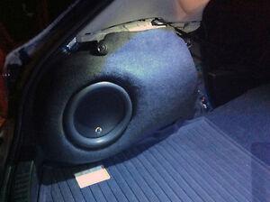 Custom Fiberglass sub box - 2010-2013 Mazda3 Sport / MazdaSpeed3