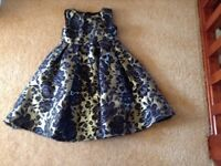 Black and gold monsoon dress