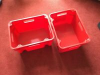 6 Storage Boxes