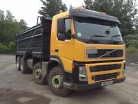Volvo FM 400 8X4 DAY STEEL BODY TIPPER WITH EASY SHEET
