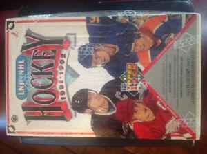 1991/1992 LNH/NHL UPPER DECK SEALED BILINGUAL BOX GRETZKY HULL