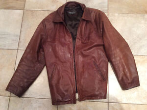Paddington Genuine Leather Men's Bomber Jacket size medium