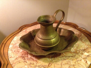 Solid bronze decanter and tray