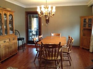 3 pc Wooden Dining Set