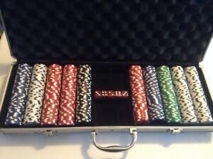 11.5 Gram Texas Hold 'em Clay Poker Chip Set with Aluminum Case,