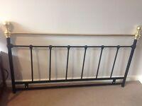 Double bed iron headboard