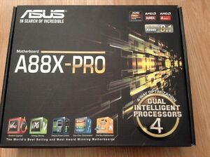 Mother board and cpu. Asus and amd.