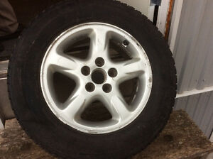 235 60 R16 Michelin X ice snow tires and rims Kawartha Lakes Peterborough Area image 1