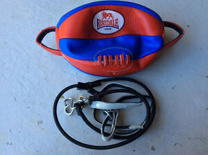 Lonsdale Barn Burner Leather Floor to Ceiling Ball with straps