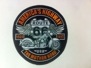 patch broder route 66 grand format 9x10 pouce