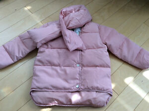 Brand New with tags down filled puffer jacket size 3 blush