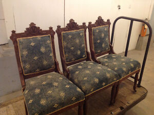 3-ANTIQUE CHAIRS