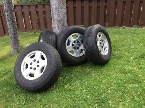 Bridgestone All Season Tires on Aluminum Rims