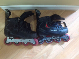 Boys hockey rollerblades