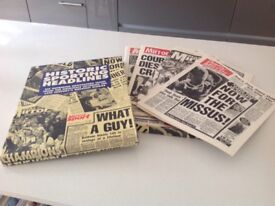 Set of six historic sporting headlines replica newspapers - ideal fathers day gift!