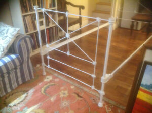 Fully Restored Antique Victorian Cast Iron Single Bed Frame