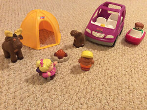Little People Camping Set with Mini Van - $20