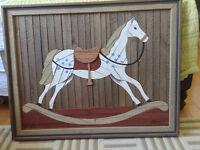 Unique - Rocking  Horse - Wall Art