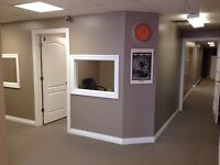 MONTHLY/YEARLY OFFICES FOR LEASE W/SHARED BOARDROOM & LUNCHROOM