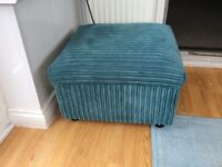 Teal corner unit and foot stool