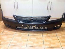 Lexus is200 front bumper + grill grey 1c6 breaking spare9-05 is 200 is300 altezza sportcross