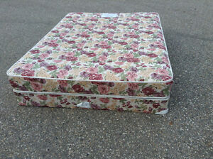 FREE: Queen mattress and boxspring