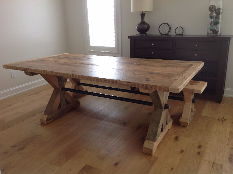 Reclaimed Wood Harvest Tables and More  dining tables and sets
