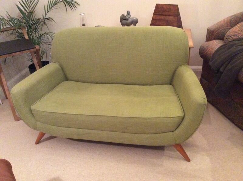 Laura Ashley Colinton Small 2 Seater Sofa/love Seat, Midcentury Modern Style