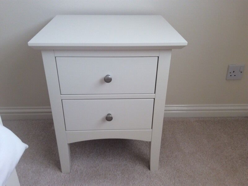 Marks And Spencer Hastings Ivory 2 Bedside Cabinets