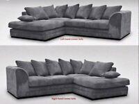 Left & Right Jumbo Cord Sofa - Corner Sofa Set - Handmade Corner Sofa - 2 3 Seater Corner Sofa Set