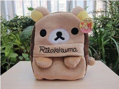 Cartoon San-X Rilakkuma Relax Bear Kid's Backpack Kindergarten School Bag Gift