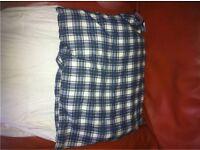 Camping mat, sleeping bag, camping pillow and inlet