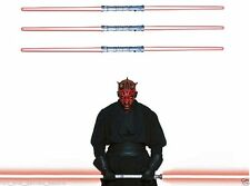 3 STAR WARS Light Saber DOUBLE RED DARTH MAUL SITH LORD Lightsaber Licensed NEW