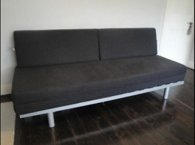 MUJI double Sofa Bed. Dark grey felt. Great condition, Gently used. Terrific Sofabed COST £750