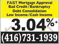LOW RATE MORTGAGE- ANY CREDIT: 3.04%+