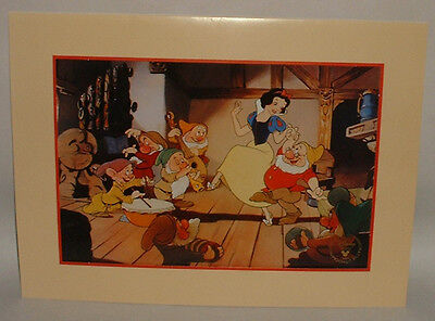 1994 Walt Disney SNOW WHITE litho print The Disney Store commemorative