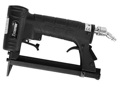 - Professional Grade Air Pneumatic Stapler Wire Framing Upholstery Fine Staple Gun