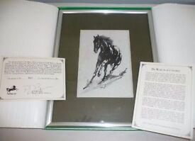Limited Edition Jacquard silk weaving (Black Horse)