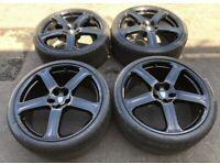 "Revere WC1 22"" 5x112 Alloy Wheels 285 30 22 Continental Tyres Mercedes ML R Class Audi VW"