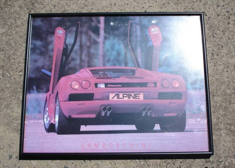 Alpine Lamborghini Framed Poster Other Parts Accessories