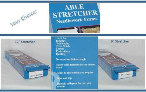 New Able Stretcher Needlework Frame . Quilting Crewel Cross Stitch Candlewick +