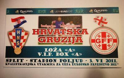 R2 TICKET HRVATSKA - GRUZIJA UEFA EURO 2012 CROATIA - GEORGIE  03/06/2011