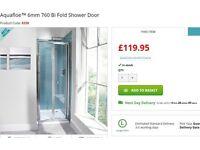 Brand New (Never been used) 760mm Aquafloe Bi-Fold Shower Door £95 (reasonable offers considered)