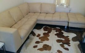 Fantastic Italian 100% full leather luxurious large corner sofa - £2500