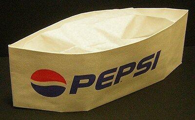"VINTAGE PEPSI ""Soda Jerk Hat""..white..Mint!"
