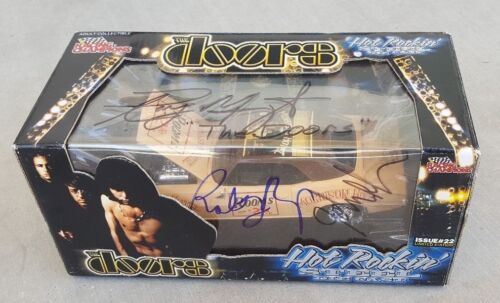 The Doors signed Morrison Hotel die cast car 1/24 in person proof signed by 3